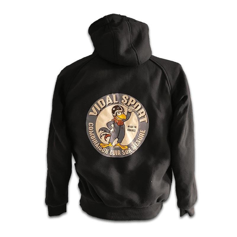 veste capuche vidal sport noire vintage