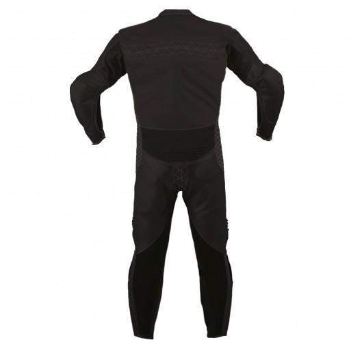 Combinaison de moto en cuir Black LEGEND marque Vidal Sport vue de dos