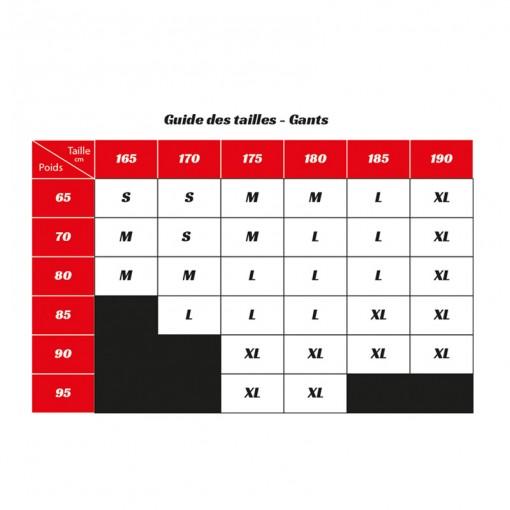vidal sport guide des tailles gants